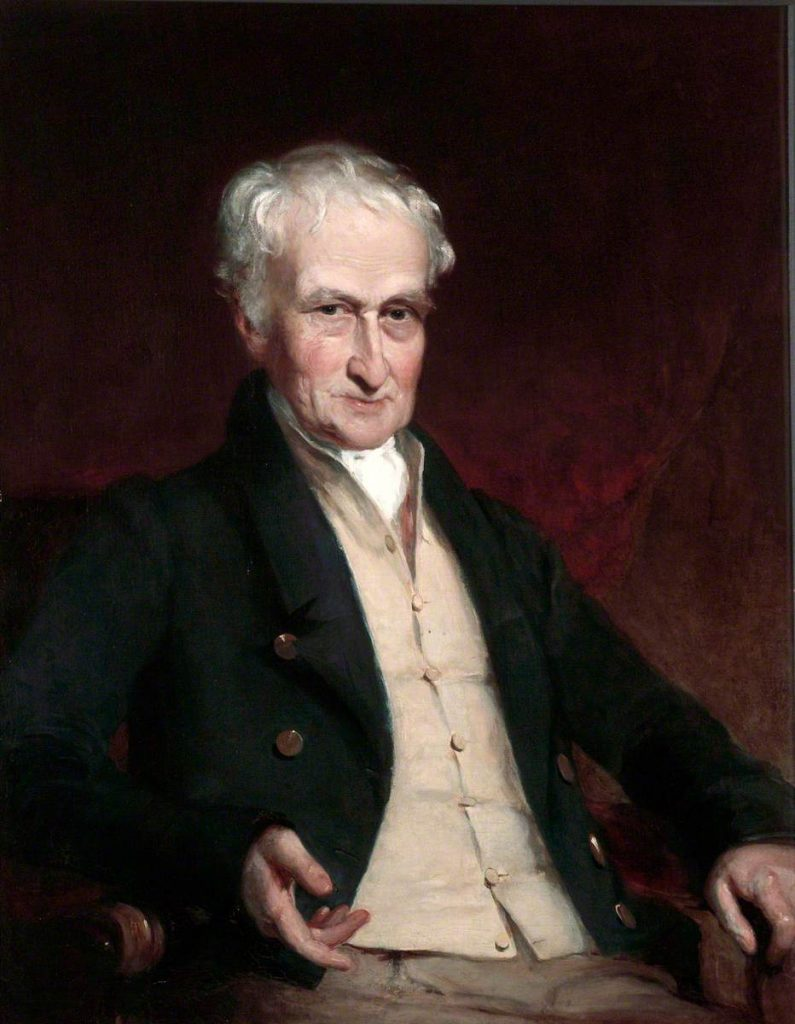 portrait of James Maury, an elderly white man with white hair wearing early 19th century clothing