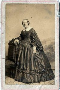 full-length photographic portrait of Ann Chase, possibly from