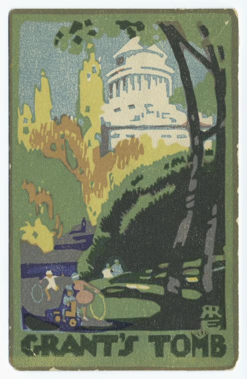 Postcard, colored, of Grant's tomb